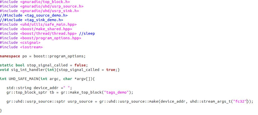 Re: [Discuss-gnuradio] Compilation Error of the sample code